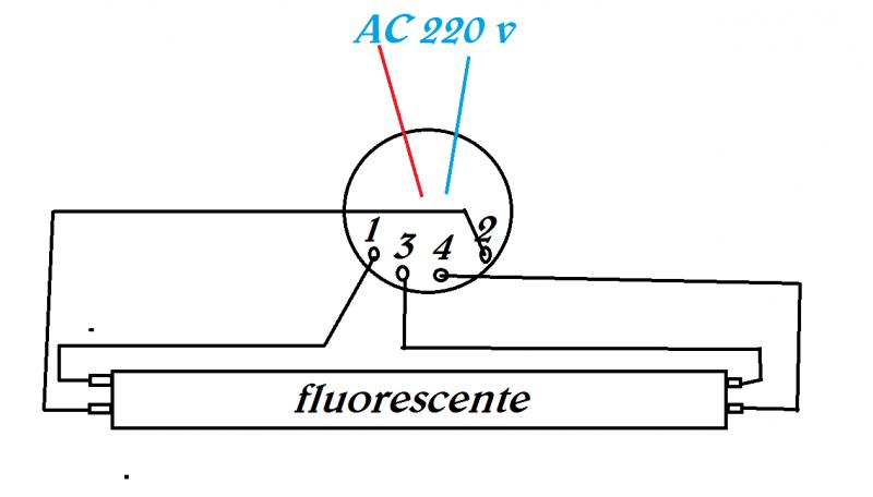 Schema Collegamento Neon Circolare : Cfl rotte no problem utilizziamo i loro ballast per