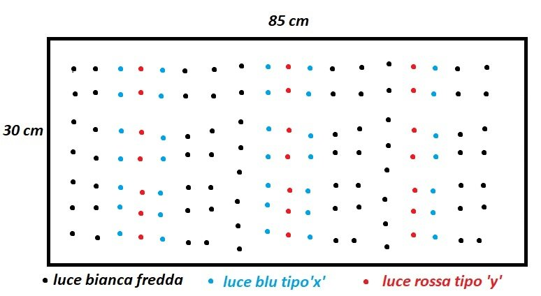 Esempio di plafoniera con Led di colore diverso uno.jpg